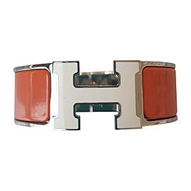 Hermes H Stainless Steel & Enamel Bracelet