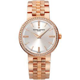 Vacheron Constantin 25557/q01r-9277 Traditionnelle 18K Rose Gold 30mm Watch