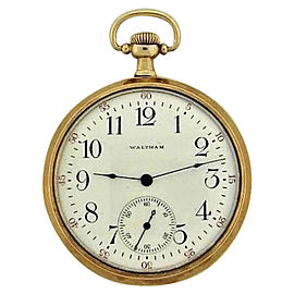 Waltham 14K Yellow Gold With Coin Edge Unisex Watch Circa: 1910