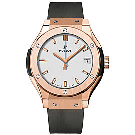 Hublot 581.ox.2611.rx Classic Fusion Quartz 18K Rose Gold 33mm Watch