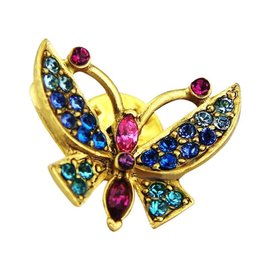 Jay Strongwater Swarovski Norma Butterfly Tack Pin