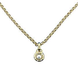 Chopard Happy Diamonds 18K Yellow Gold 0.35 Ct Diamond Necklace