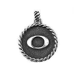 "David Yurman 925 Sterling Silver Initial ""O"" Round Pendant"