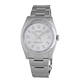 Rolex 114200SASO Oyster Perpetual 34 Silver Dial Stainless Steel Watch