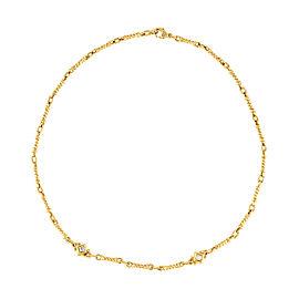 Judith Ripka 18k Yellow Gold and 0.20ct Diamond Necklace