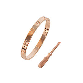 Cartier Love Bracelet 18K Rose Gold Size 19
