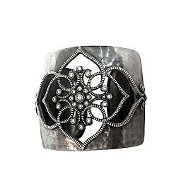Leslie Greene Sterling Silver and Diamond Cuff Bracelet