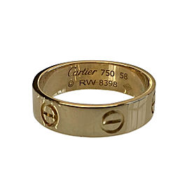 Cartier Love Yellow Gold Ring Size 8.25