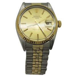 Rolex Datejust 1500 18K Yellow Gold and Stainless Steel with Champagne Dial Automatic Vintage 36mm Unisex Watch