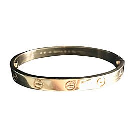Cartier 18K Yellow Gold Love Bracelet Size 16