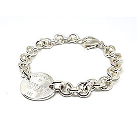 Tiffany & Co. Sterling Silver Please Return To Tiffany Oval Tag Bracelet