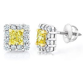 David Gross Platinum Diamond Earrings