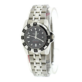 Tudor Hydronaut 24030 Stainless Steel Black Carbon Fiber Dial 30mm Womens Watch
