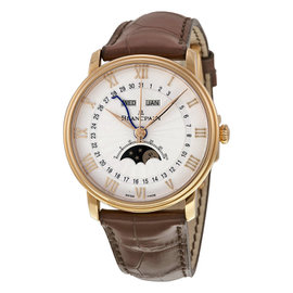 Blancpain Villeret 6664-3642-55b Moonphase 18K Rose Gold 40mm Unisex Watch