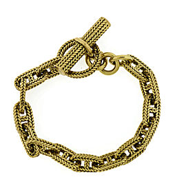 Hermes 18K Yellow Gold Chain D'Ancre Bracelet