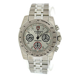 Tudor Sport 20300 Stainless Steel Silver Dial Automatic 41mm Mens Watch