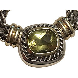 David Yurman Albion 925 Sterling Silver & 14K Yellow Gold Citrine Necklace