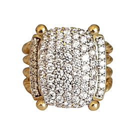 David Yurman 18K Yellow Gold and Diamond Wheaton Ring Size 4.75