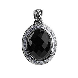 David Yurman Amazing Sterling Silver Onyx & Diamond Diamonds Pendant