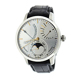 Maurice Lacroix Masterpiece Lune Retrograde Calendar MP6528 Stainless Steel Automatic 43mm Mens Watch