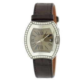 Bedat & Co. 334.040.101 No.3 Stainless Steel & Leather Diamond Quartz 31mm Womens Watch