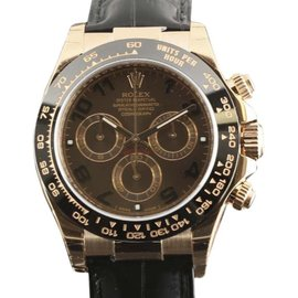 Rolex Daytona 116515 18K Rose Gold & Leather Automatic 40mm Mens Watch