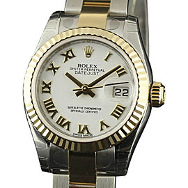 Rolex Datejust 179173 Stainless Steel & 18K Yellow Gold 26mm Womens Watch