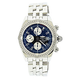 Breitling Chronomat Evolution A13356 Stainless Steel Blue Dial Automatic 43mm Mens Watch