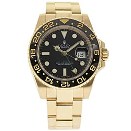 Rolex GMT-Master II 116718 Yellow Gold Automatic 40mm Mens Watch 2007