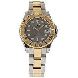 Rolex Yacht-Master 168623 Stainless Steel & 18K Yellow Gold Grey Dial Automatic 35mm Mens Watch