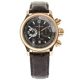 Jaeger-LeCoultre Master Compressor 146.2.25 18K Rose Gold & Leather Automatic 42mm Mens Watch