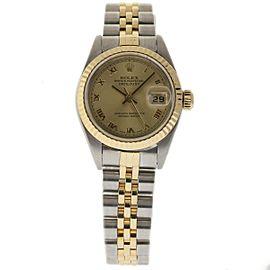 Rolex Datejust 79173 Steel Gold Champagne 26mm Womens Watch 2000