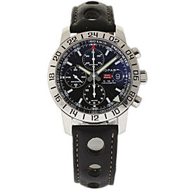 Chopard Mille Miglia 168992 GMT Chrono Black Leather Stainless Steel 42mm Mens Watch