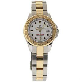 Rolex Yacht-Master 169623 Steel Gold White 29mm Womens Watch 2006