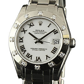 Rolex Datejust 81319 18K White Gold & White Dial 34mm Womens Watch