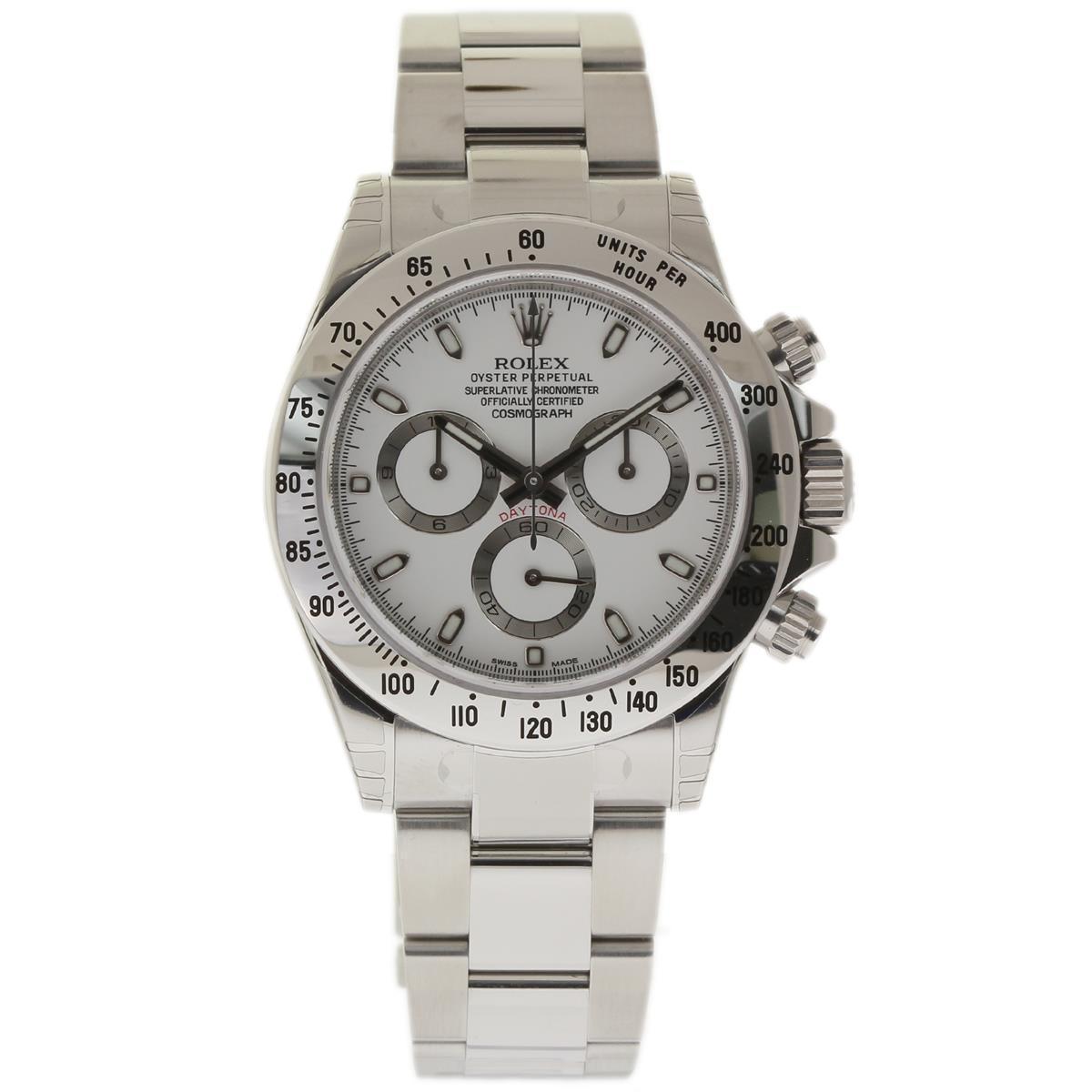 664823e38a463 Rolex Daytona 116520 Stainless Steel 40mm Mens Watch | Rolex | Buy at  TrueFacet