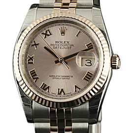 Rolex Datejust 116231 Stainless Steel and 18K Rose Gold 36mm Unisex Watch