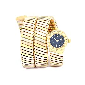 Bulgari Turbogas Serpenti BB191T 18K Tri Gold Quartz 19mm Womens Watch