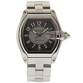 Cartier Roadster W62001V3 Stainless Steel Grey Arabic Dial Automatic 44mm Mens Watch