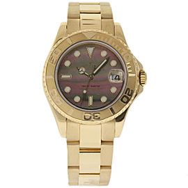 Rolex Yacht-Master 168628 18K Yellow Gold 35mm Womens Watch