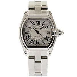 Cartier Roadster W62025V3 Stainless Steel Silver Roman Dial Automatic 38mm Mens Watch