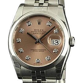 Rolex Datejust 116200 Stainless Steel 36mm Unisex Watch