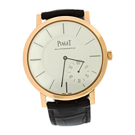 Piaget Altiplano Ultra Thin G0A35131 18K Rose Gold & Leather Automatic 43mm Mens Watch