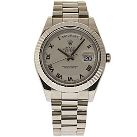 Rolex Day-Date II 218239 18K White Gold 41mm Mens Watch