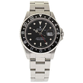 Rolex GMT Master 16700 Stainless Steel Black Dial Automatic 40mm Mens Watch 1989