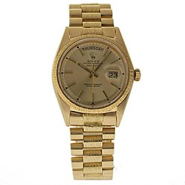 Rolex Day-Date President 1807 Yellow Gold Vintage 36mm Mens Watch