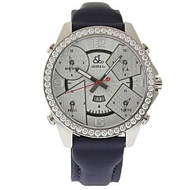 Jacob & Co. 5 Time Zone JC-3 Stainless Steel Diamond 47mm Unisex Watch