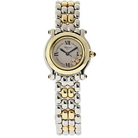 Chopard Happy Sport 27/8255-23 Floating Diamond Stainless Steel Yellow Gold 26mm Womens Watch