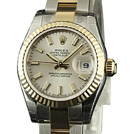 Rolex Datejust 179173 Stainless Steel & 18K Yellow Gold Silver Dial Automatic 26mm Womens Watch 2017