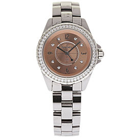 Chanel J12 H2563 Titanium & Ceramic Quartz 33mm Womens Watch
